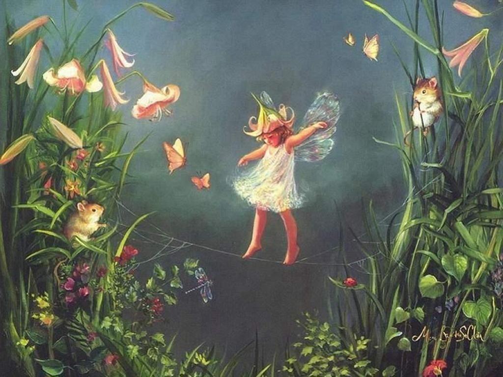 Download Fantasy Fairies Little Fairy Wallpaper 1024x768