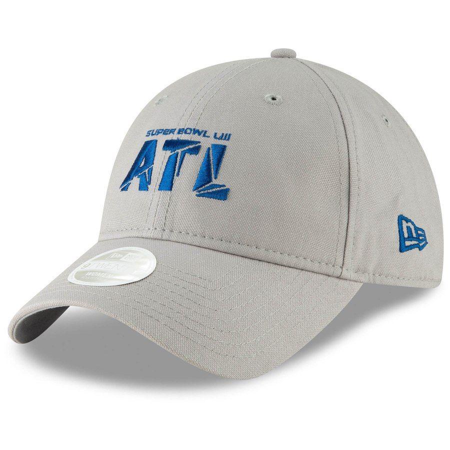 Women s New Era Gray Super Bowl LIII 9TWENTY Adjustable Hat 71cf3dc480