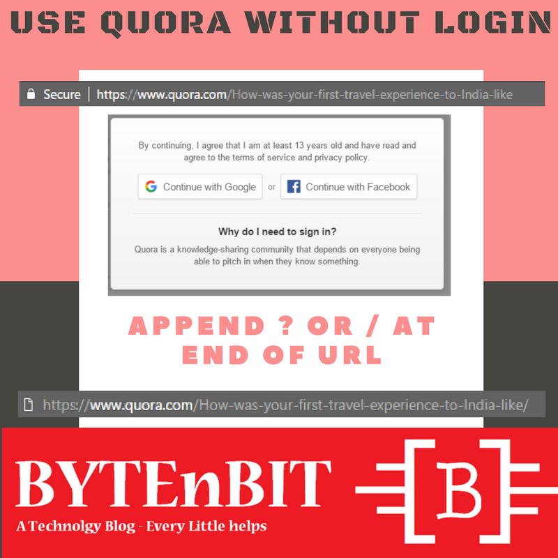 Use Quora Without Login (Dengan gambar)
