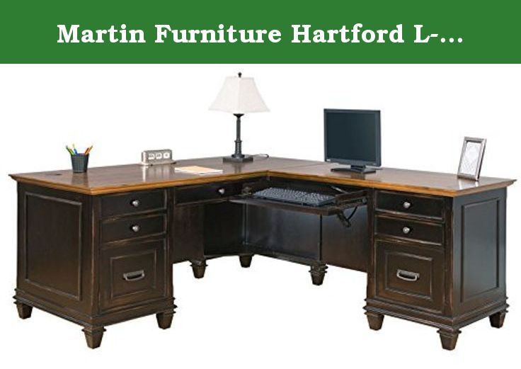 Martin Furniture Hartford L Shaped Desk Brown The Hartford