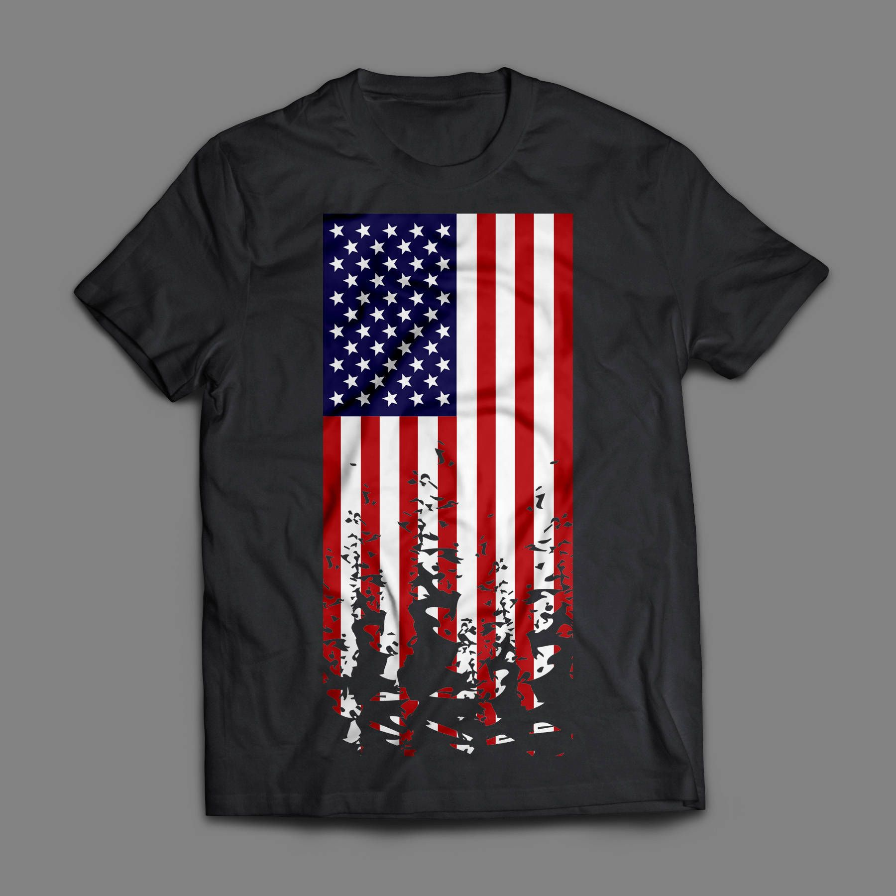 American Flag svg, US flag svg, Distressed flag svg