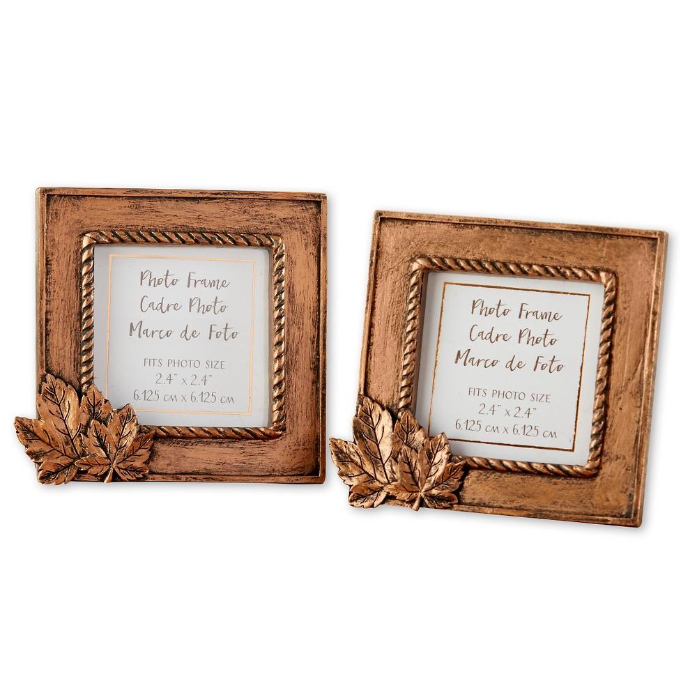 Kate Aspen Copper Frame with Leaf (Set of 12)