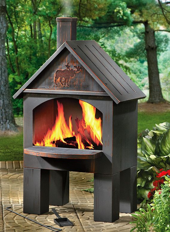 Metal Chiminea Fire Pit Metal Fire Pit And How To Be Safe When You Have One Cool Home Designs Outdoor Fireplace Kits Fire Pit Patio Fire Pit Backyard