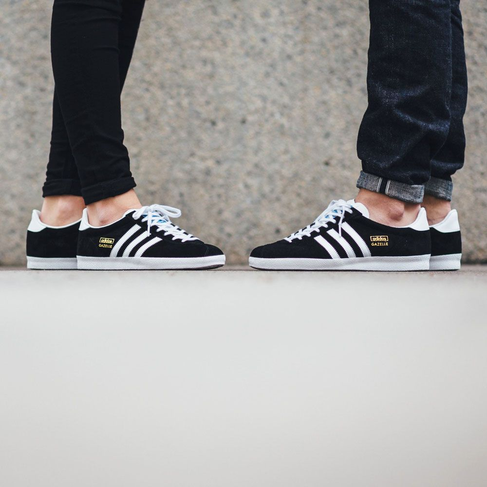Adidas Gazelle Og Shoes Black Gold