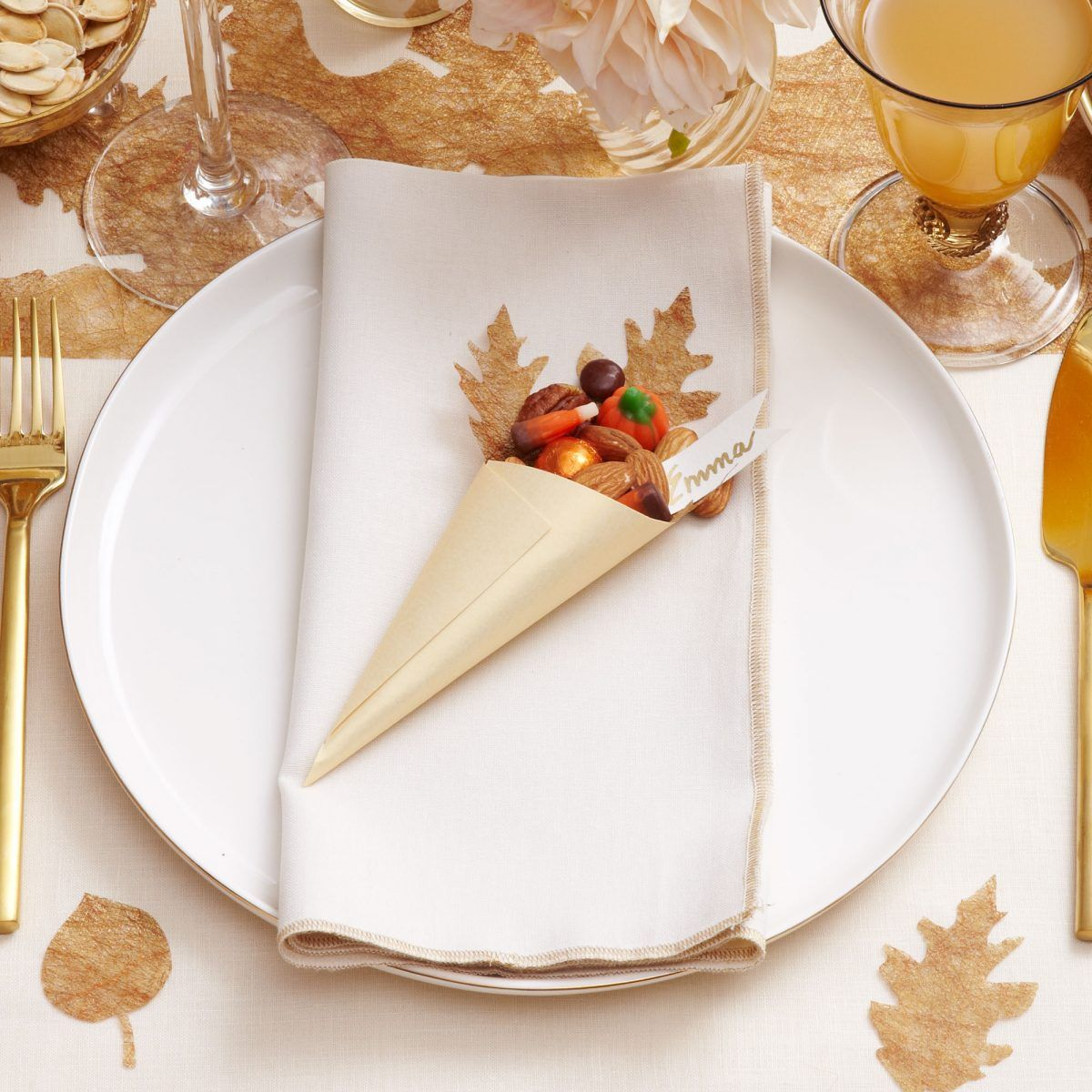 Darcy Miller Designs Cornucopia Place Cards Thanksgiving Fall