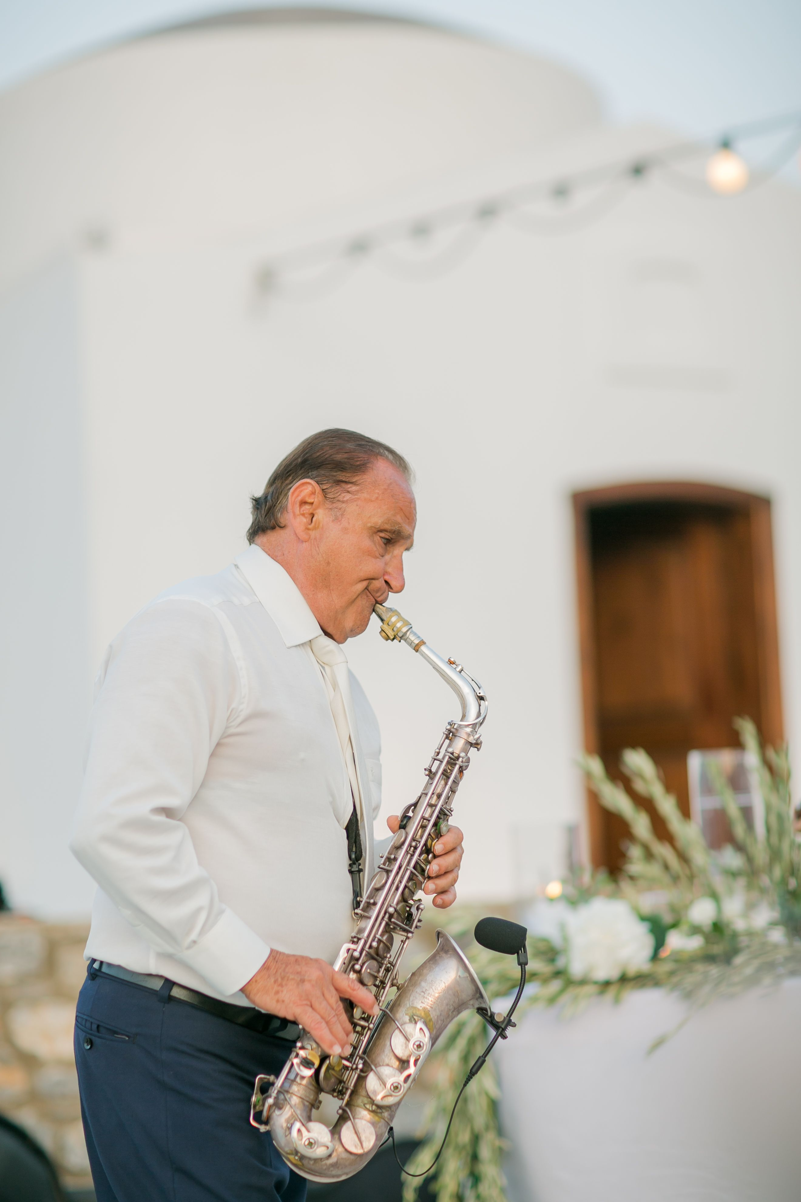 Saxophone Player Saxophonist Wedding Music Jazz Time Greek