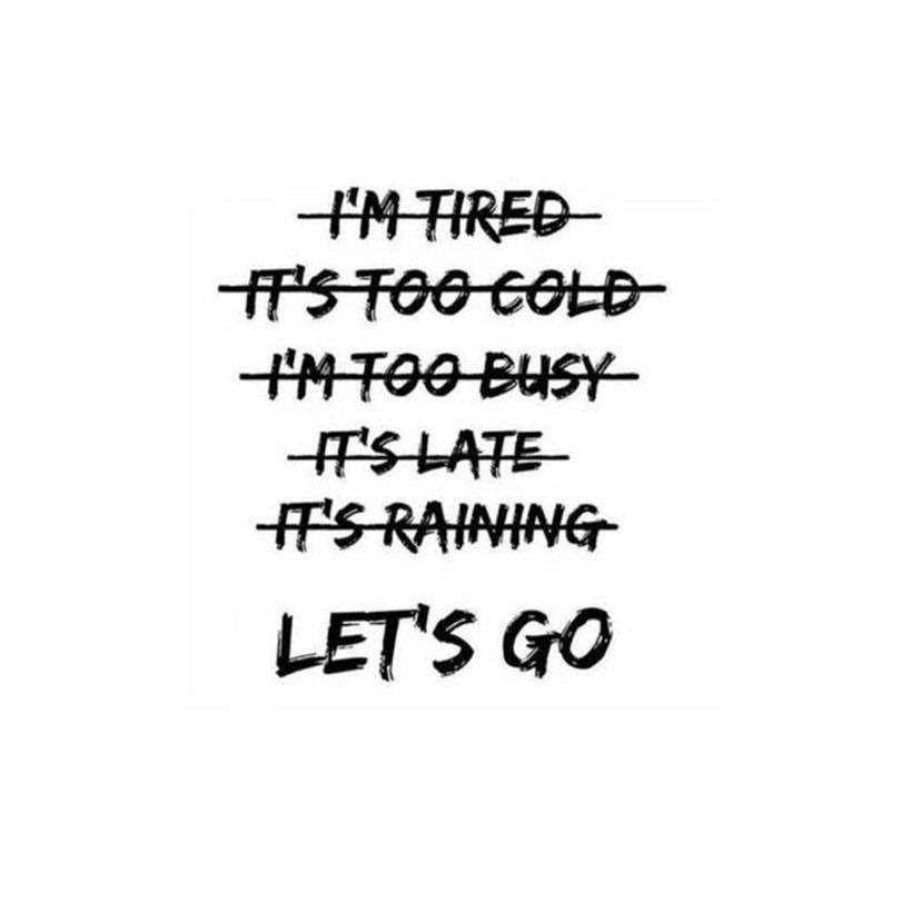 No excuses! ☀️Let's go! 🏃🏼♀️🏃🏻♂️💪🏼
