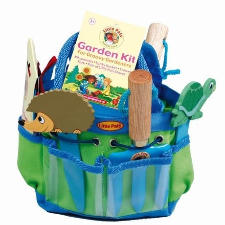 kids age 8 will love helping in the garden with this little pals blue gardening kit a fab gift for green fingered kids