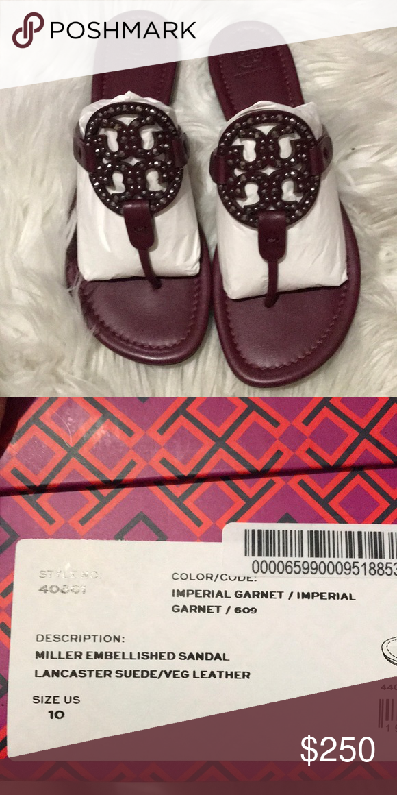 ed83134d3610 Tory Burch Miller - embellished sandal Brand New in Box