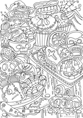 Halloween Cookies Halloween Coloring Sheets Cool Coloring Pages