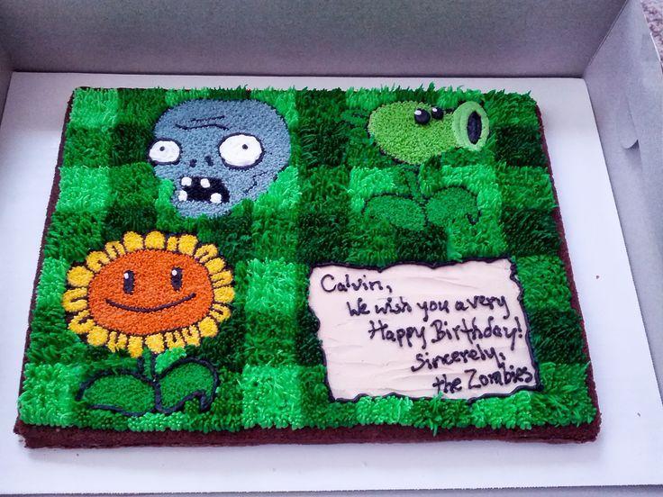 plant vs zombies birthday cake Google Search birthday cakes