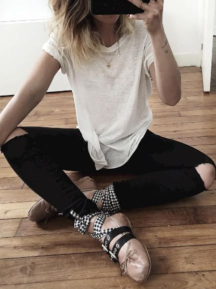 rock 39 n 39 roll style miu miu ballerinas audreylombard just get in my closet pinterest miu. Black Bedroom Furniture Sets. Home Design Ideas