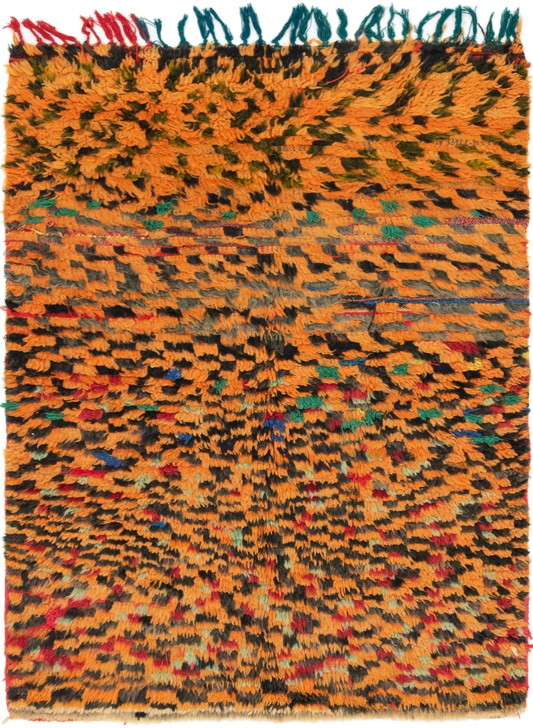Orange Unique Loom 4 39 2 X 5 39 6 Moroccan Rug Oriental - Unique Tapijt