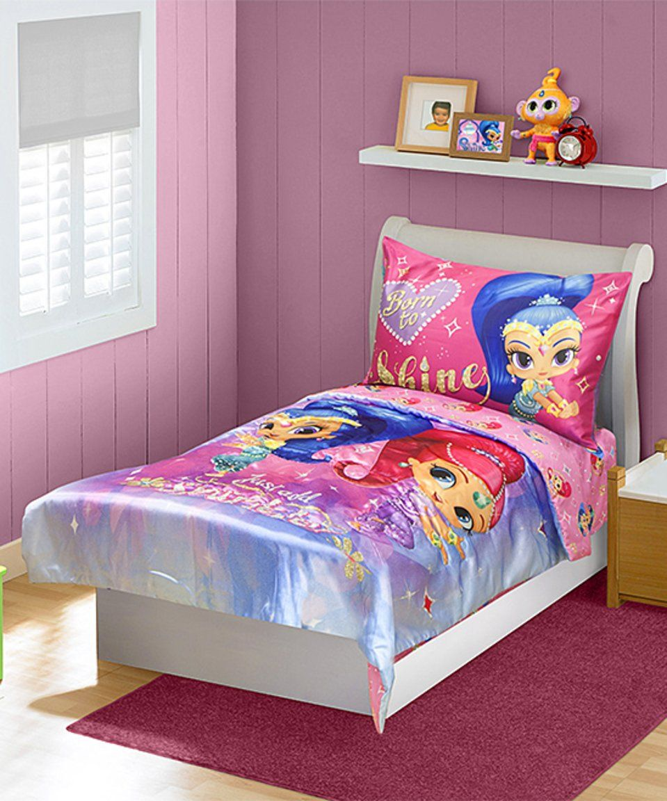 Take A Look At This Pink Shimmer Shine Four Piece Bedding Set