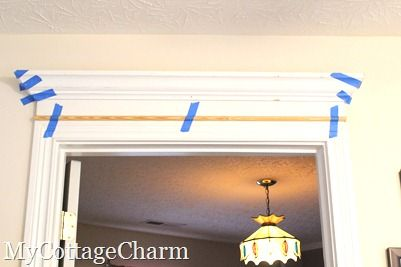 My Cottage Charm How to Add Molding to Your Doors- Door Header Tutorial & My Cottage Charm: How to Add Molding to Your Doors- Door Header ... pezcame.com