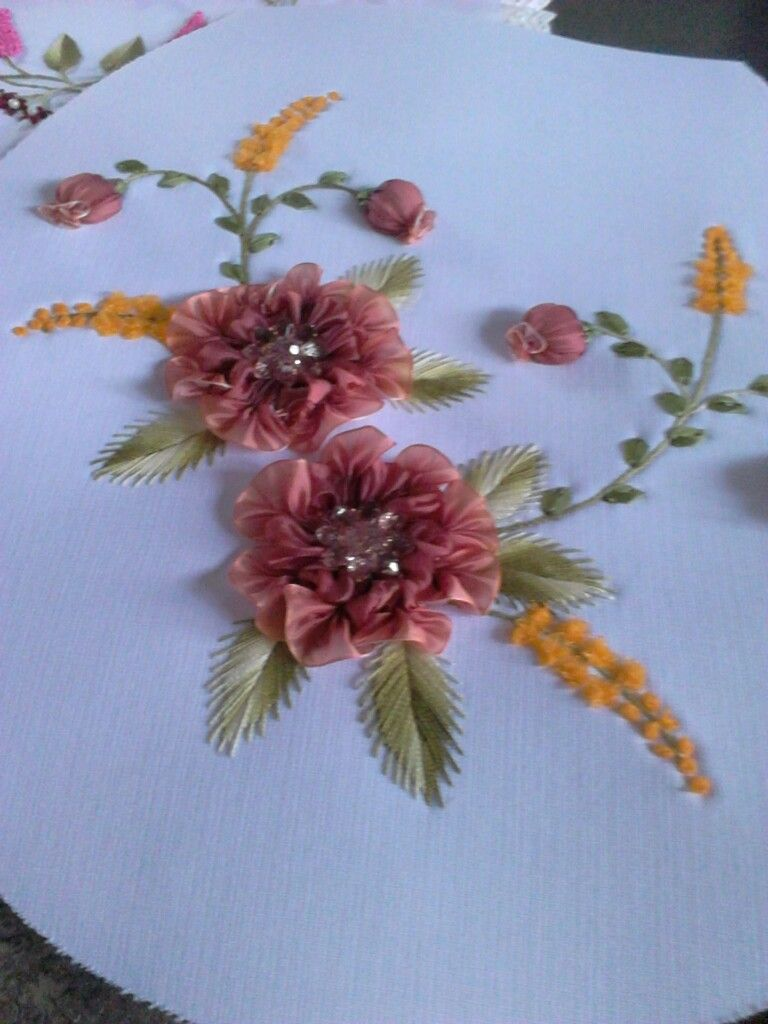 Pin by elen pino on manual pinterest embroidery ribbon work and