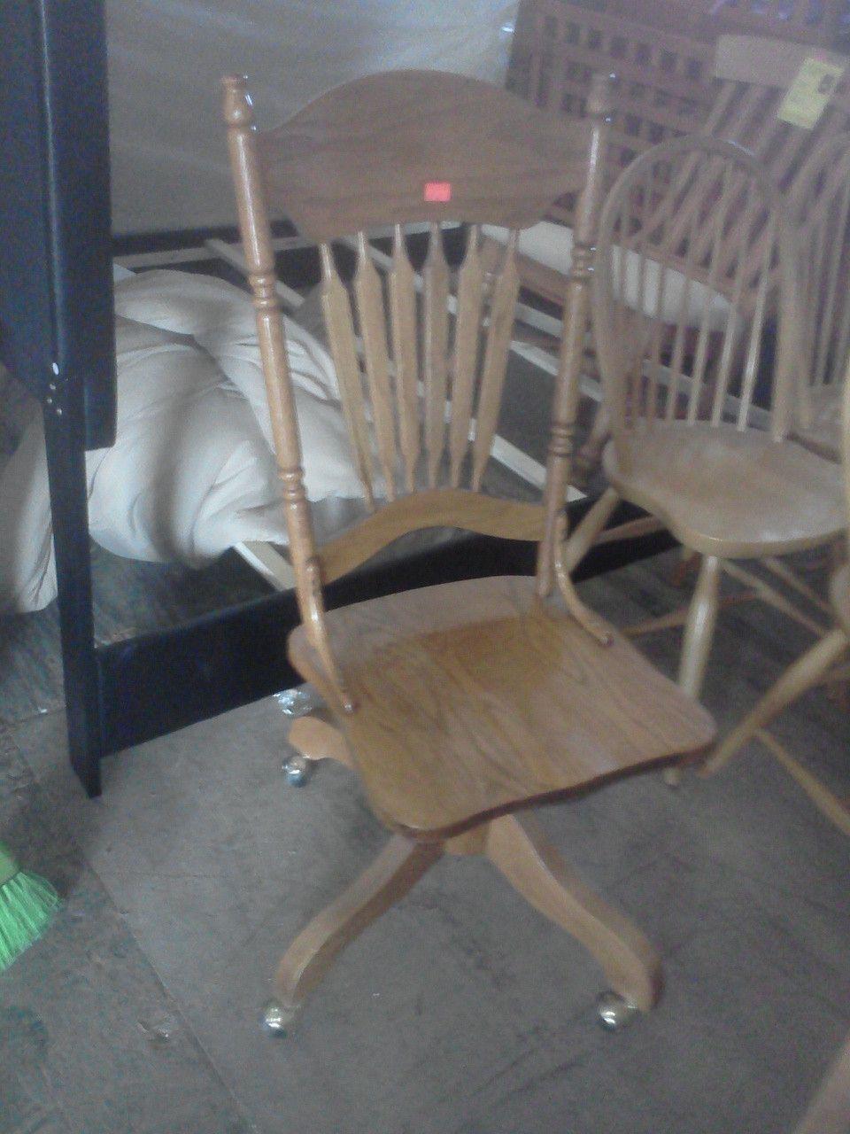 Oak office chair 15907