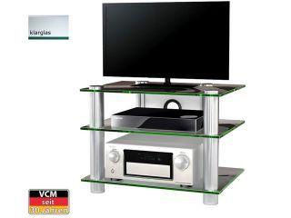 Vcm Tv Mobel Evanta Klarglas Aluminium Tv Rack Tv Mobel Aluminium