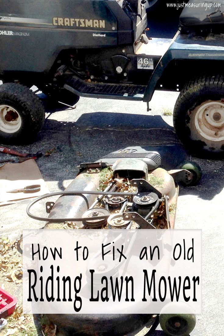 How To Fix A Riding Lawn Mower Easy Steps To Get Your Mower Running Riding Lawn Mowers Lawn Mower Repair Best Riding Lawn Mower