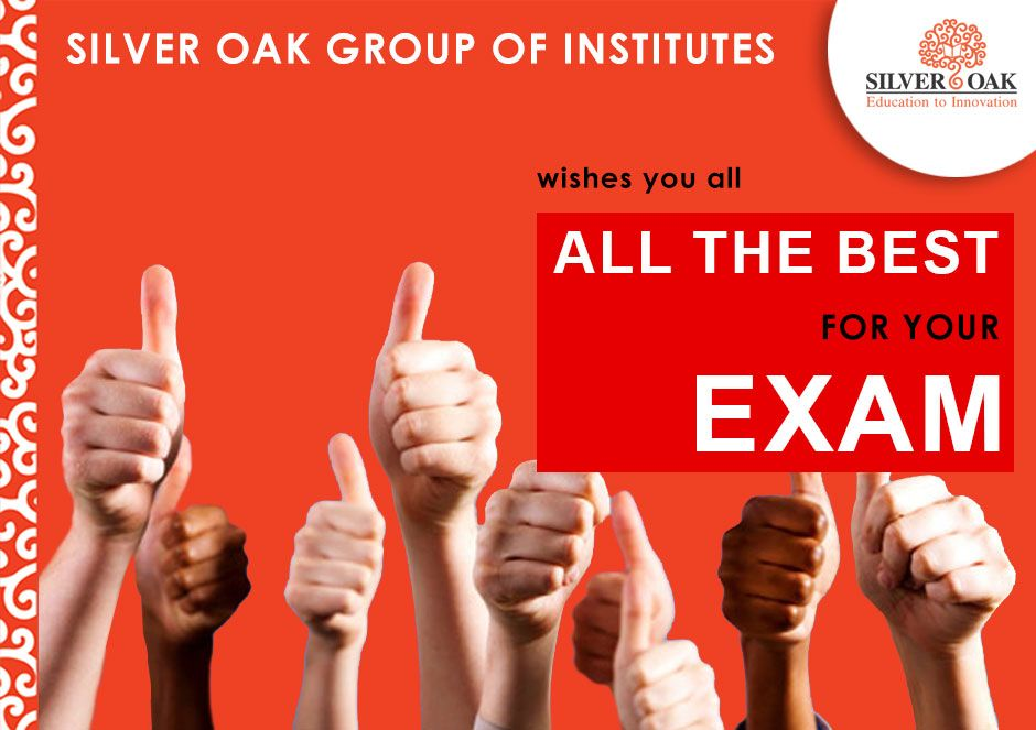 To achieve great things, we must not only ACT, but also DREAM; not only PLAN but also BELIEVE! Silver Oak Group of Institutes announces the dates for the GTU examinations. 3rd of November is the date of commencement of exams for the 5th semester students and 6th of November for the 3rd semester students.  #ExamDates #GTU #5thSemester #3rdSemester#AllTheBest