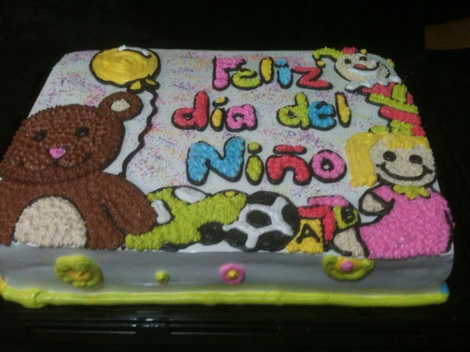 dia del niño | Pastel dia del niño, Tortas para niños, Pastel de crema de mantequilla