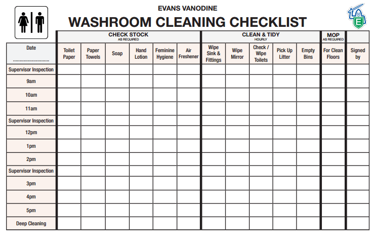 Toilet Checklist 3655 Cleaning Checklist Template House Cleaning Checklist Printable House Cleaning Checklist