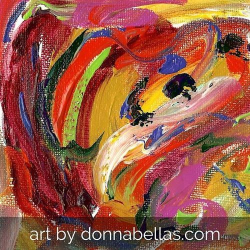 Mini Abstract Art Painting Exploring Color Relationships