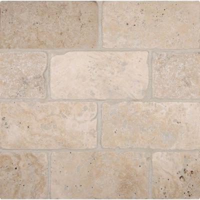 Msi Bologna Chiaro 3 In X 6 In Tumbled Travertine Floor And Wall