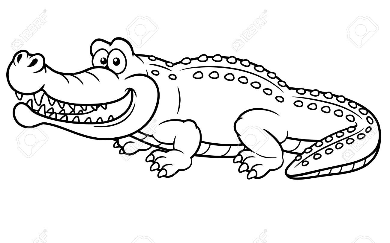 Illustration Of Cartoon Crocodile Coloring Book Animal Coloring Pages Coloring Pages Coloring Books