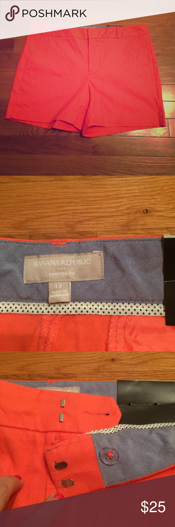 """Banana Republic Shorts These are Hampton fit shorts. They have a 4 1/2"""" inseam. They have never been worn and still have the tag on. I want to call the color of these shorts coral. If you have any questions please ask! Banana Republic Shorts"""