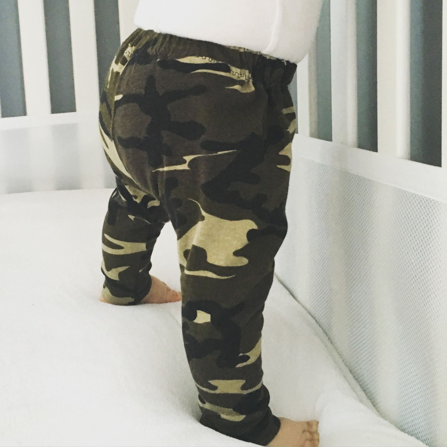 3531802adf5cc These adorable Camo Print Army green leggings are super cute and fun for a  baby…