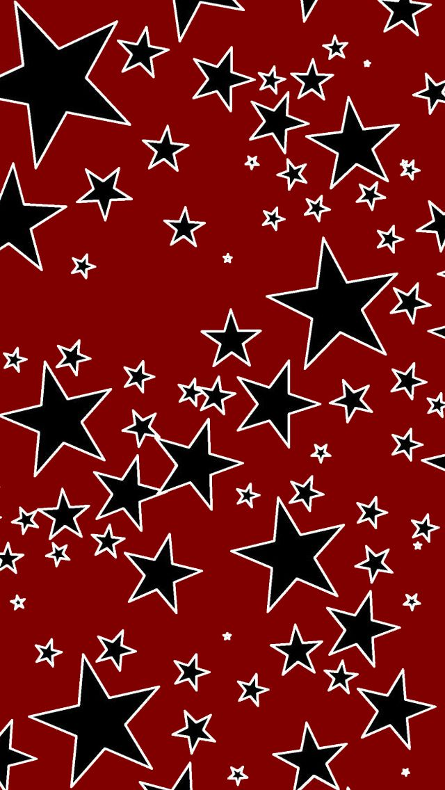 Wallpaper Of Star Blink Patterns Red Backgrounds For Mobile Phone Hand Phone Red And Black Wallpaper Red Background Backgrounds Phone Wallpapers
