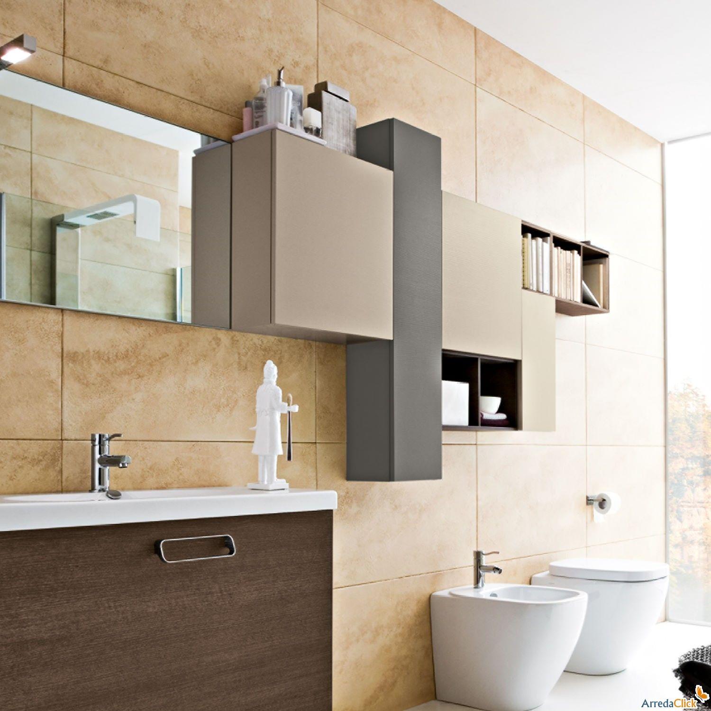 Pensili a giorno bagno rainbow 09 1500 1500 bagno pinterest bagno arredamento e idee - Pensili bagno moderni ...