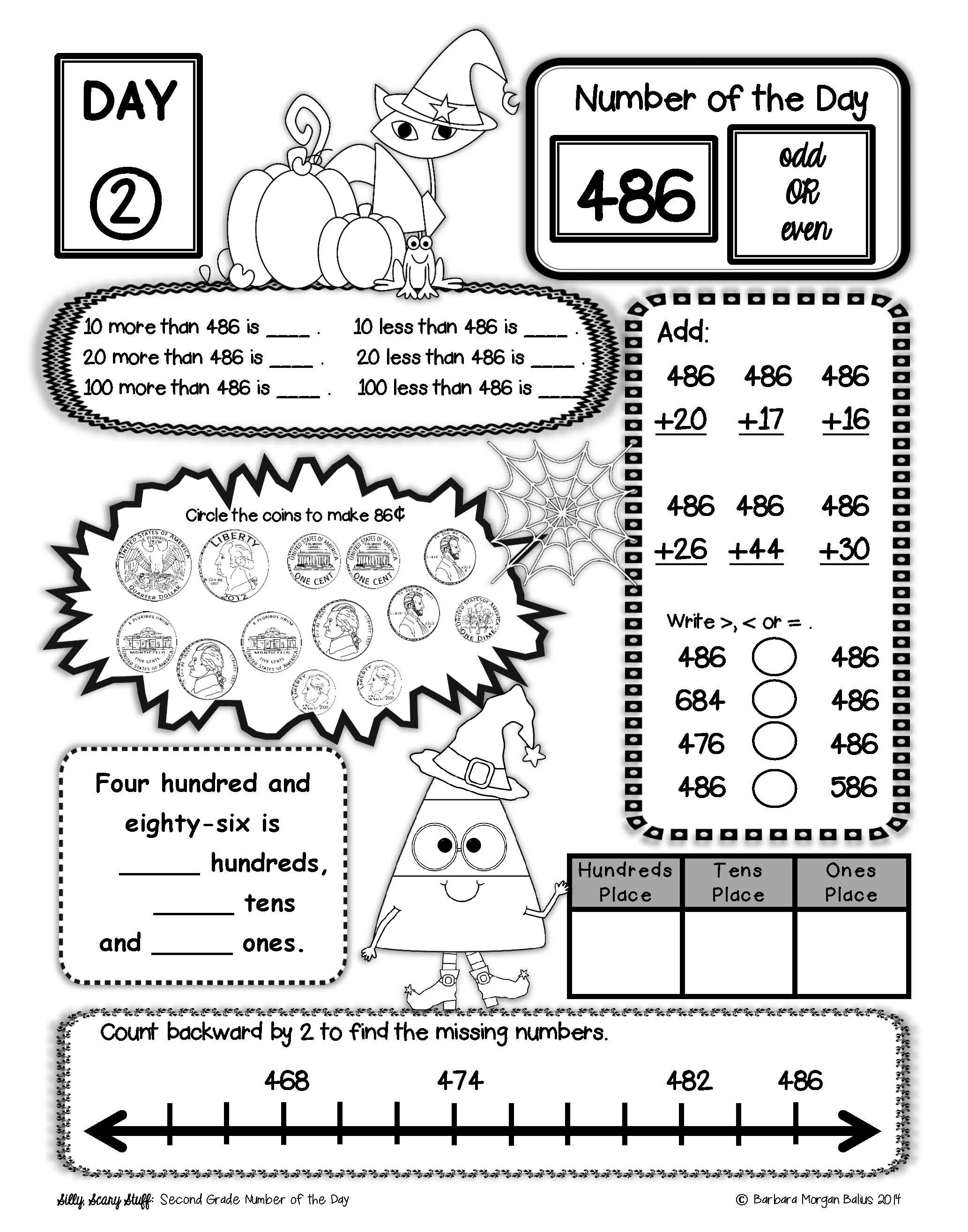Place Value Number Sense Practice Number Of The Day Year