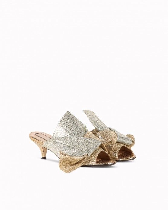 3d0a631dba5504 Bow-effect sandals N°21 Bow-effect sliders N°21  N21  mules  sandals ...