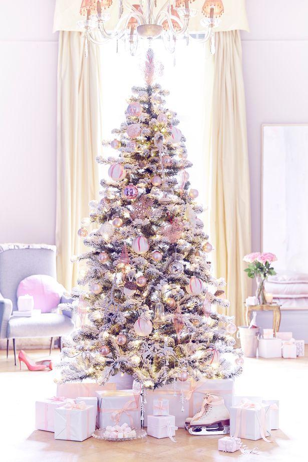Wintry White Theme Wyevale Garden Centres I Did This White Christmas Trees Fun Christmas Decorations Purple Christmas Tree