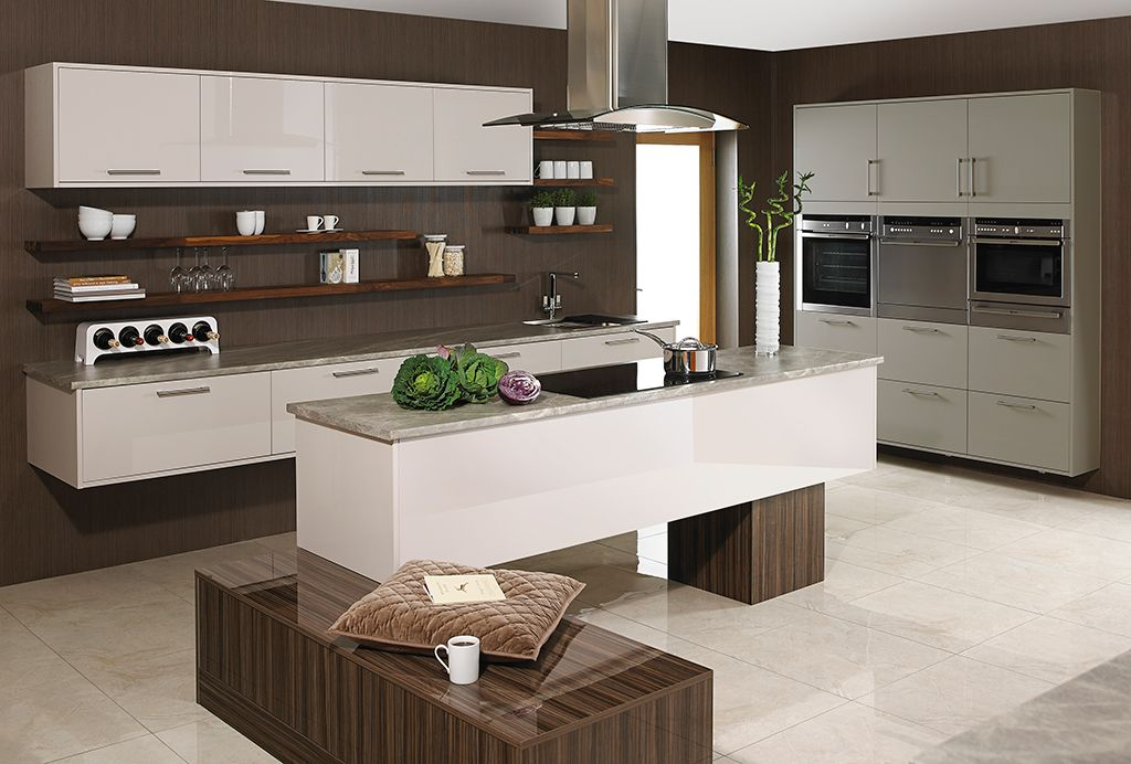 Modern Kitchen Showrooms ambient & allegro with floating island. | kitchens: showroom