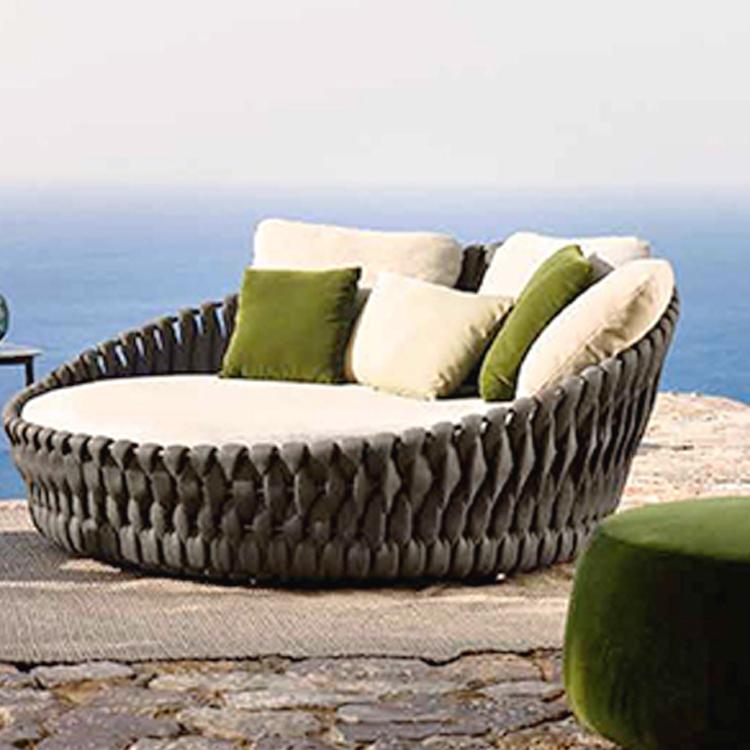 Ligo Modern Waterproof Rope Woven Outdoor Big Round Sofa View Round Sofa Ligo Product Details From Foshan Liyoung Furniture Co Ltd On Alibaba Com Round Sofa Outdoor Living Room Sofa Design