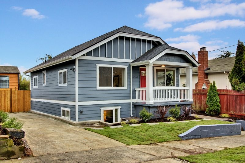 Rehabbed Blue Craftsman Seattle Investment House Rehab Projects - Craftsman home rehabilitation in houston