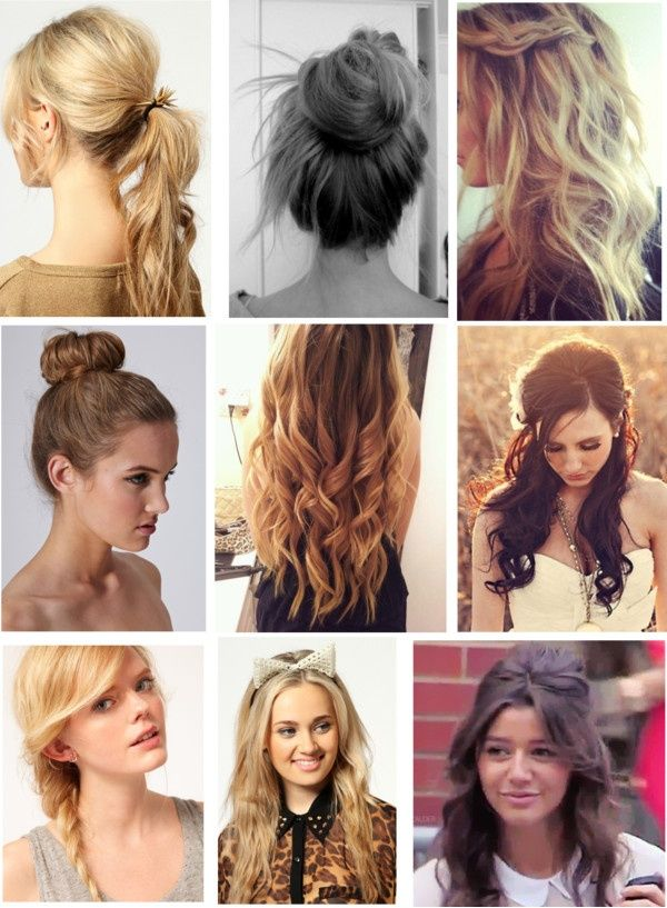 These are a bunch of cute hairstyles that look great with just about ...