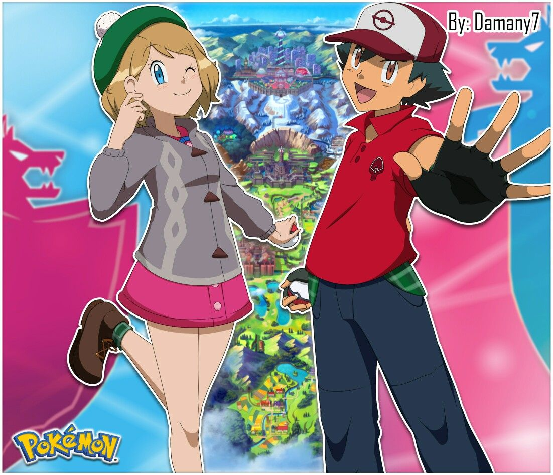 Pin By Sugarmint On Best Of Amour Pokemon Ash And Serena Ash Pokemon Pokemon Characters