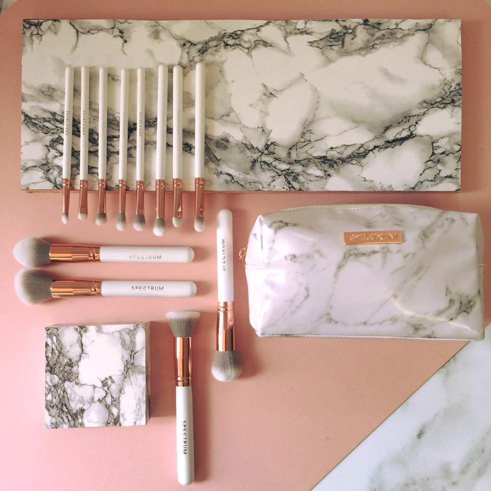 marble makeup brushes. spectrum collections marble brush set eyebrow makeup tips brushes e
