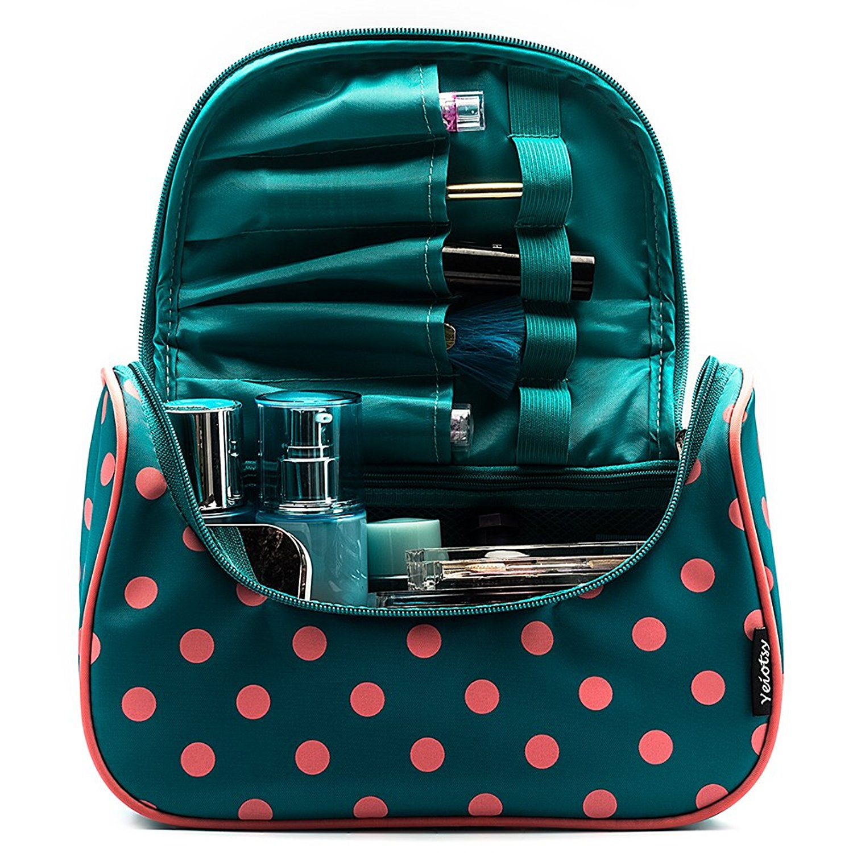 Cosmetic Bag, Yeiotsy Cute Polka Dots