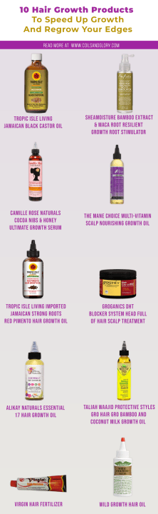 10 Natural Hair Growth Products To Speed Up Growth and Grow Your Edges #fasterhairgrowth