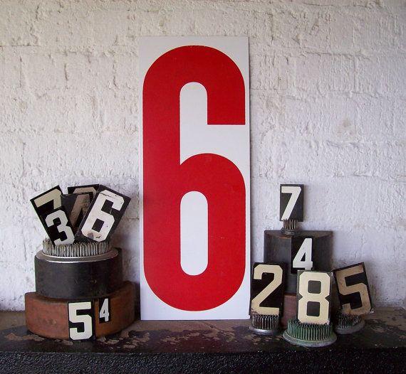 Vintage numbers.