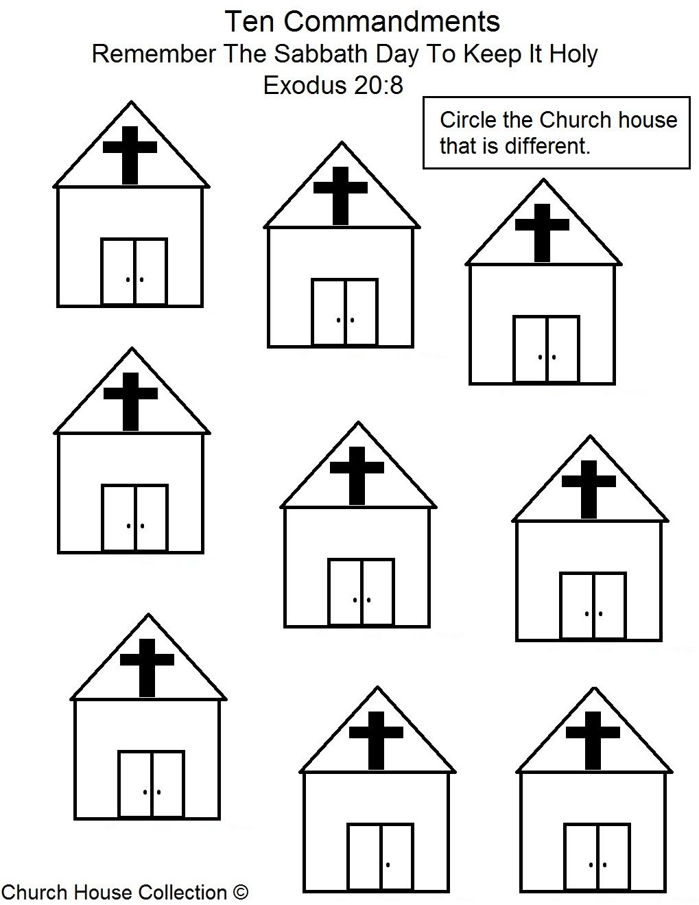 Commandment Page Ten Coloring Sheets | ... To Keep It Holy Find The ...