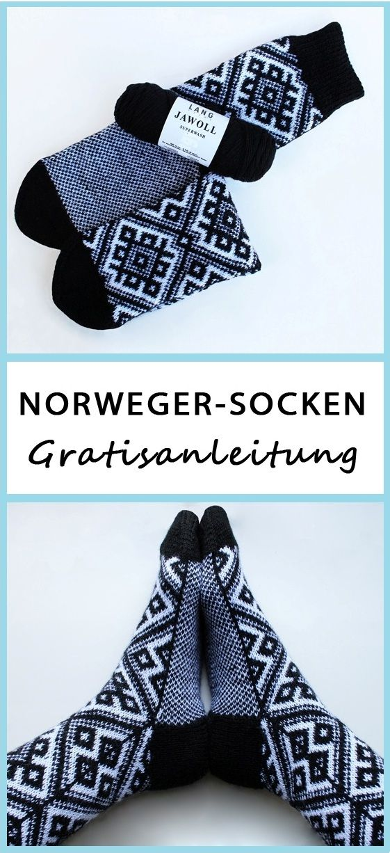 Strickanleitung: Norweger-Socken | Pinterest | Warme füße ...