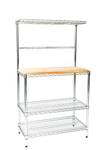 21 Deep X 36 Wide X 74 High Chrome Bakers Rack With Top Shelf
