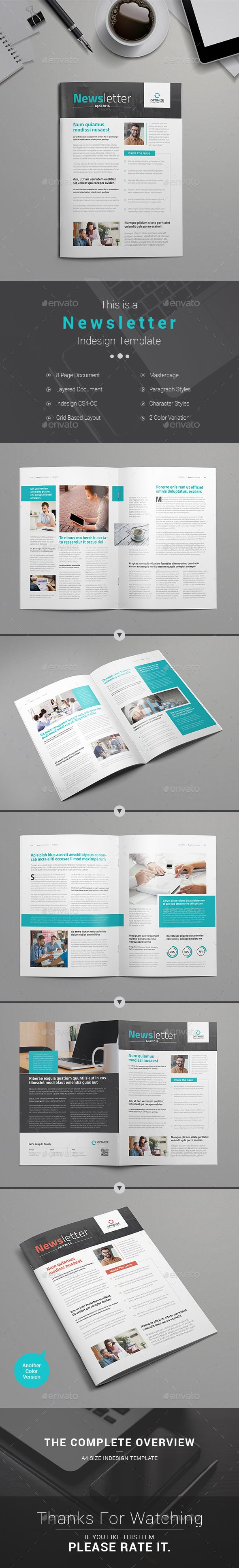 Newsletter Template | Newsletter templates, Template and Print templates