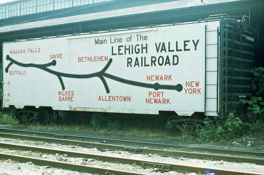 Lehigh Valley rail map boxcar